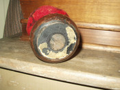Antique Victorian Make Do Pincushion Wooden Furniture Foot Mohair Covering