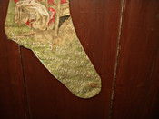 Antique Victorian Lithograph Merry Christmas Stocking Santa Sleigh Baby Scenes