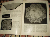 Vintage Crochet Instruction Book Early 1900 Lunch Set  Doily Alphabet