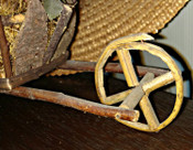 Vintage 1920 German Twig Putz Wheelbarrow Easter Holiday
