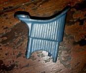 1920s Kilgore Doll House Potty Chair Blue Cast Iron