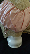 Silk Satin Ribbon Bed Bonnet Vintage 1920s Lingerie Crochet Trim