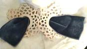 Victorian Edwardian Neck Bow Vintage Collar Crochet Ribbon