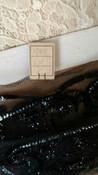 Edwardian 1920 Black Trim Tulle Net Sequin Scrolls Leaf Dress Hat Embellishment