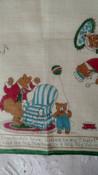 Handkerchief Vintage Children Hankie Goldilocks Bears 1930s 1940s