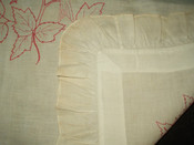 Turkey Redwork Embroidery Victorian 1900 Pillow Sham Cover