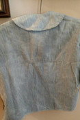 Child Homespun Blue Stripe Shirt 19th Century Primitive Well Worn