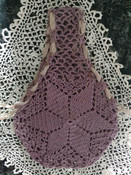 Old Needlework Crochet Bag Vintage Handle Purse 1920 1940