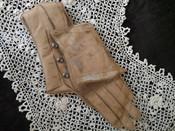 Victorian Edwardian Pincushion Leather Glove Replica Metal Buttons