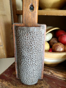Americana Antique 1800s Hand Made Wood Punch Tin Grater