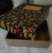 Vintage Bear Brand Hosiery Stocking Box Only 1930s  Children Animal Figures
