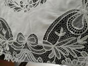 Antique Battenburg Tape Lace Round Tablecloth Cloth Center Victorian Edwardian