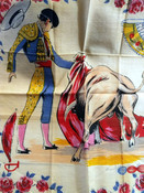 Vintage Matador Bullfighter Hankie Handkerchief Colorful Cotton Unused