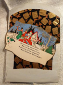 1920s Christmas Greeting Card Envelope Carolers Winter Scene