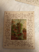 3 Victorian Gibson & Co Greeting Lithograph Card 1870s to 1890s