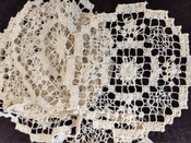 7 Doilies Darn Net Lacis Art Deco Table Linens