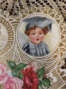 Vintage 1920s Valentine Paper With Love Vintage Greeting Card