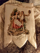 1890 Raphael Tuck Padded Satin Valentine Greeting Picture Victorian Artistic Series