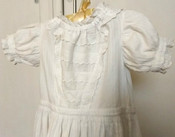 Victorian Edwardian Christening Long Baby Dress Pique Embroidery Trim