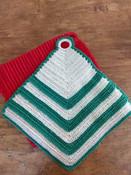 Two Crochet Hot Pad Trivet Mat Holders Vintage 1930 1950 Unused