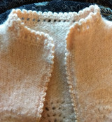 Edwardian 1920 Baby Sweater Child Pink Wool Knit Fashion