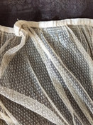 Antique Lace Skirt Panel Linen Waist Band Sewing Crafts Costuming