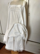 Antique French Cami Kickers Chemise Bloomer 1920's White Cotton Lace Monogram Underwear