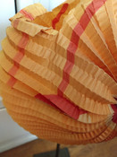 Antique Halloween  Pumpkin  Folding  Accordion Crepe Paper Face Candle Holder As Is