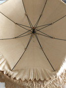 1890 Antique Silk Lace Parsaol Buggy Carriage Pram Victorian Umbrella Only