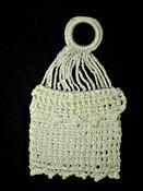 Antique Vintage Hand Crochet Lace  Coin Purse Bag