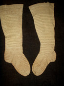 Country Primitive 19th Century Stripe Tan Baby Hosiery Stockings
