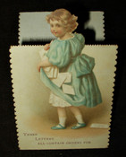 Advertising Fold Out Trade Card Mount Penn Stove Works Queen Esther Range