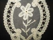 Old Victorian 1900 Battenburg Lace Dress Embellishment Trim