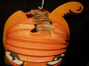 Vintage Halloween Honeycomb Crepe Paper German Pumpkin 1920 1940