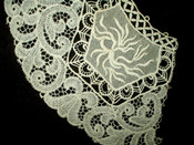 Vintage 1920 1930 Lace Embroidery Silk Insets Dress Collar