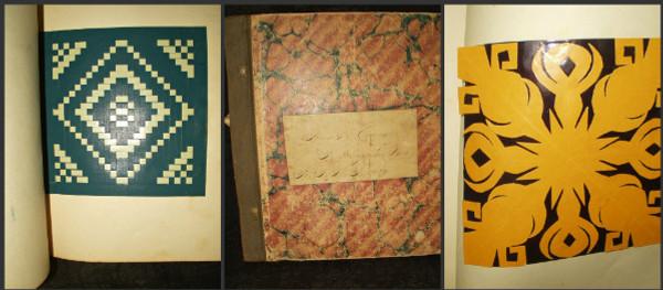 Victorian 1891 Origami Paper Craft Art Teacher School Scrap Book