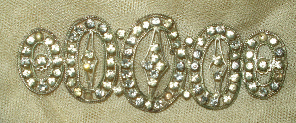Vintage Flapper 1920's Metal Rhinestone Bandeau Head Band Piece As Is