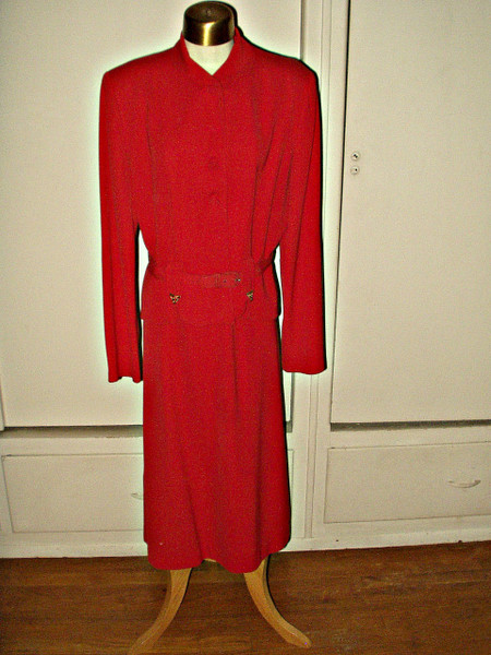 Vintage 1930s Rayon Crepe 2 Piece Suit Original Cartwright by Martha Gale