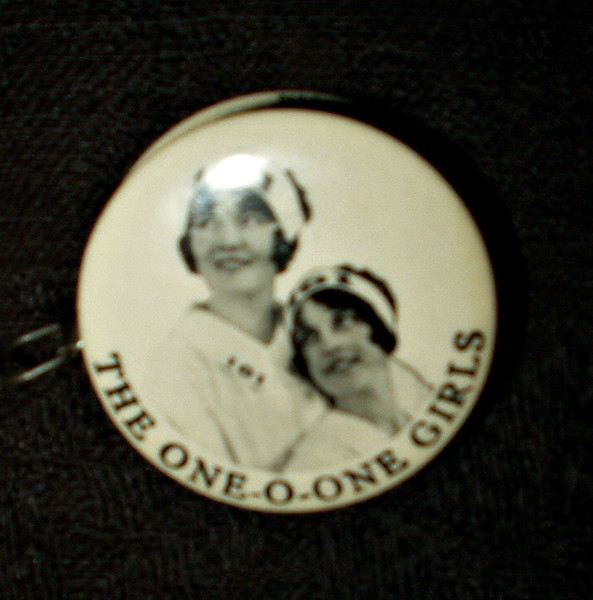 Antique 1900 Edwardian Celluloid Sewing Tape Measure Advertising One-O-One  Girls