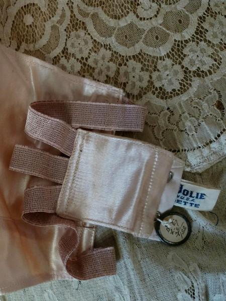 Flapper 1920 Bandette Bra Pink Satin Lingerie Unworn Size Tag