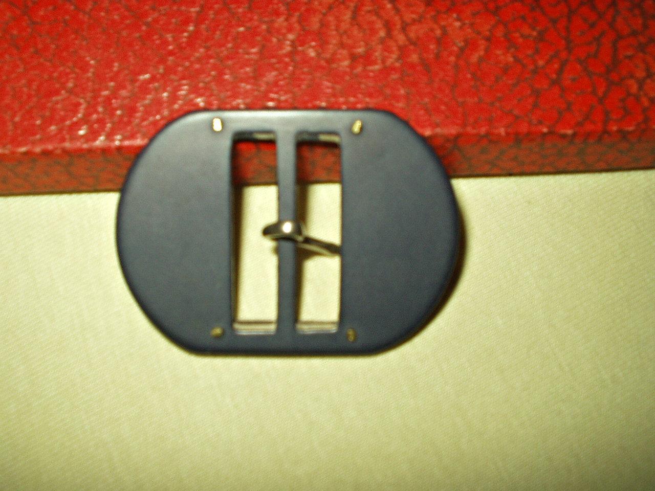 1930/'s Navy blue belt buckle.