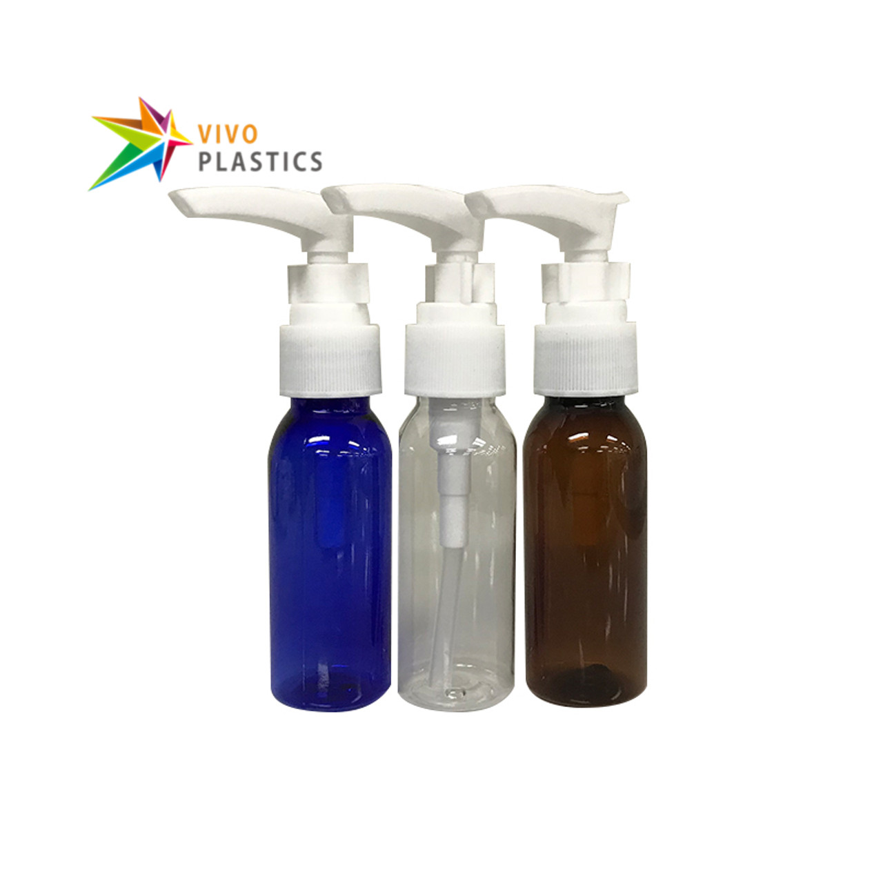 f64042b90a26 30ml PET Plastic Round Shoulder Bottle with White Lotion Pump