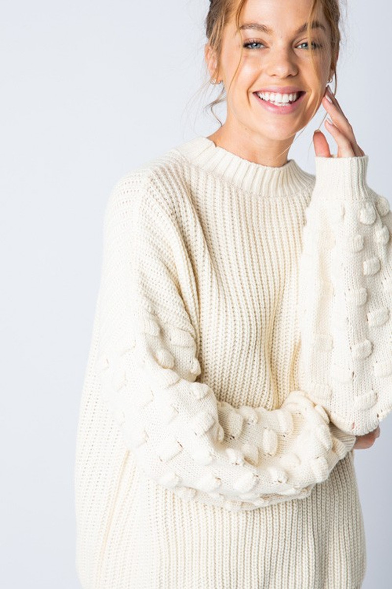 JOSE KNIT SWEATER IN CREAM