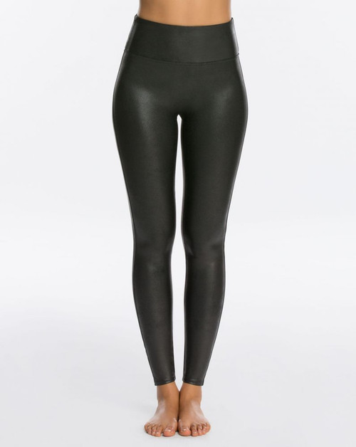 SPANX FAUX LEATHER LEGGINGS IN PETITE