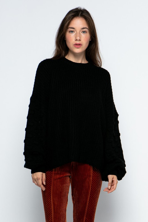 JOSE KNIT SWEATER IN BLACK