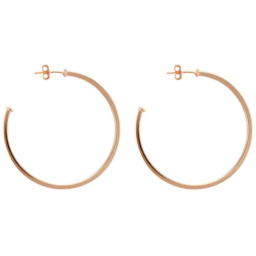 SHEILA FAJL PERFECT HOOP IN POLISHED ROSE GOLD