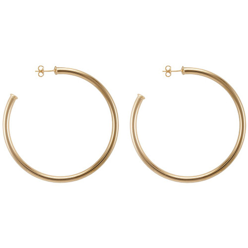 SHEILA FAJL EVERYBODY'S FAVORITE HOOPS IN POLISHED CHAMPGNE