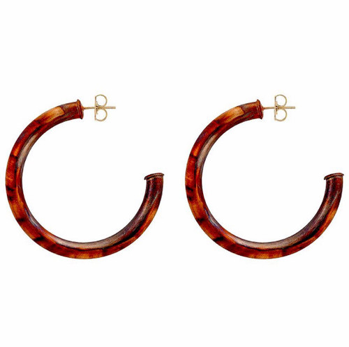SHEILA FAJL SMALLER EVERYBODY'S FAVORITE HOOPS IN BURNISHED GOLD