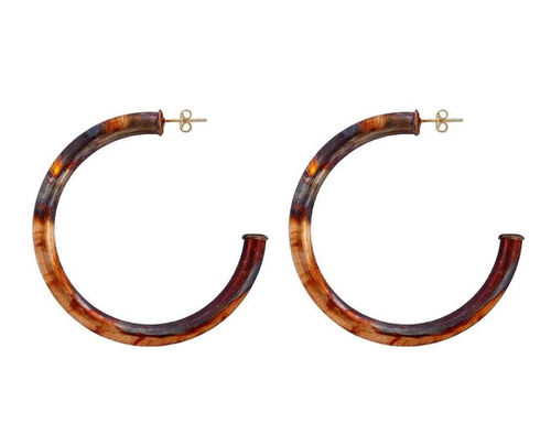 SHEILA FAJL PETITE EVERYBODY'S FAVORITE HOOPS IN BURNISHED GOLD