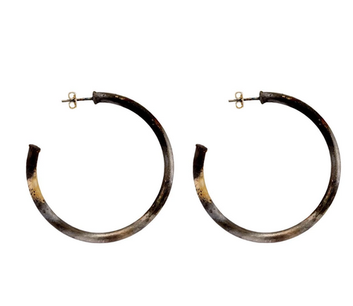 SHEILA FAJL PETITE EVERYBODY'S FAVORITE HOOPS IN BURNISHED SILVER